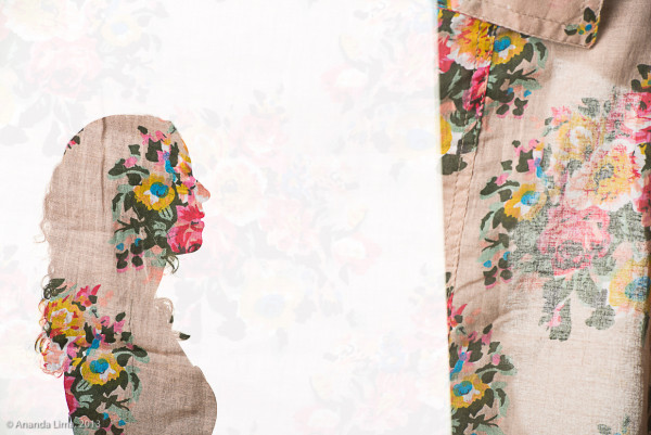 """Double Exposure of Me and My Mother's Shirt"" by Ananda L"